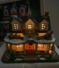 LEMAX Winterhaven Christmas Lighted House 2019 Santa Sleigh Reindeer Porch  New