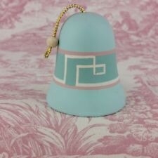 "Ceramic Collectible Bell Blue 2.75"" tall x 2.25"" diameter"