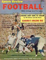 1962 Sports Review Football magazine, Bill Wade, Chicago Bears GOOD