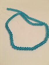 100 Blue Clear Glass Beads