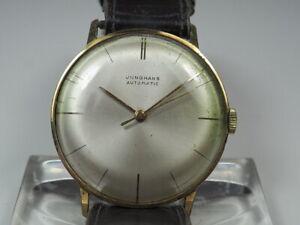 schöne alte JUNGHANS AUTOMATIC HERREN ARMBANDUHR HAU Uhr vergoldet