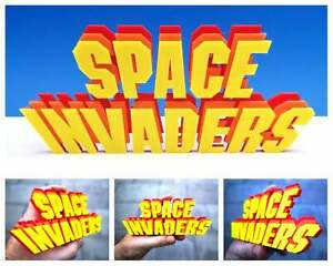 Space Invaders 3D logo / shelf display / fridge magnet - gaming collectible