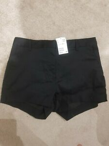 Ladies Black H&M Shorts Hot Pants Size 12 New With Tags