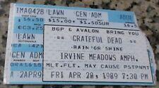 GRATEFUL DEAD Irvine Meadows Amp, Irvine, CA concert ticket stub 4/28/89