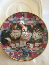 Patchwork Pals K. Duncan Franklin Mint Cat Kitten Collection Plate