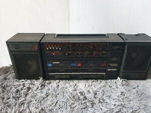 Sharp GF-570E BK GhettoBlaster BoomBox  Cassette Radio Detachable Speakers #205