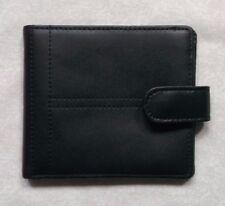 Wallet Vintage Leather BLACK  BI-FOLD CARDS NOTES 1990s