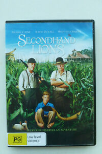 Secondhand Lions - R4 DVD - Michael Caine Robert Duvall Drama Film - Free Post