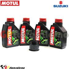 TAGLIANDO OLIO + FILTRO ORIGINALE MOTUL 5000 10W40 SUZUKI 600 GSX R MOTO GP 2016