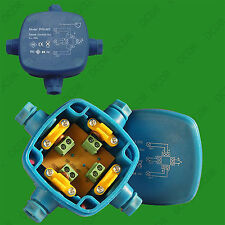 1x IP68 48V 16A (150W) Series Wired Waterproof Marine Outdoor Junction Box