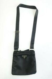 Authentic PRADA Nylon Black crossbody Shoulder bag #10056