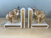 Vintage Lefton Porcelain Elephant Bookends Circa 1960's