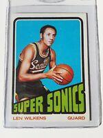 1972 Topps Basketball Len Wilkens #81 Seattle Super Sonics HOF EX-EXMINT