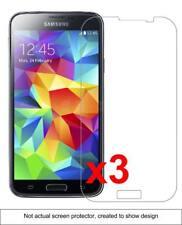 3x Samsung Galaxy S5 Screen Protector w/ cloth