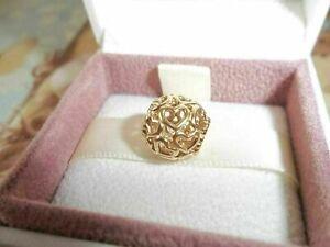 Genuine Authentic Pandora 14ct Gold Openwork Heart Charm 750964 G585 ALE
