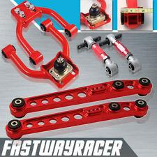 JDM EK EK9 Red Front Upper Control Arm+ Rear Lower Control Arm + Rear Camber Kit