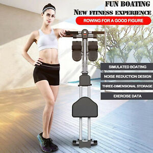 Folding Rowing Machine Resistance Cardio Home Fitness Gym Workout Toning Rower