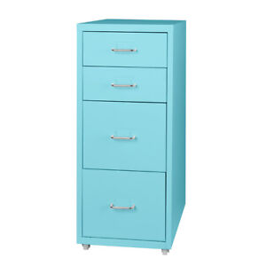 Filing Cabinet Storage Cabinets Steel Metal Home School Office Organise 4 Drawer