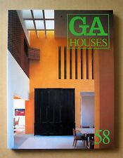 GA Houses  #58,  Ricardo Legorreta, Scogin Elam & Bray, Sverre Fehn, etc. / 1998