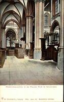 AMSTERDAM Holland Briefkaart um 1895/1905 Niederland Kirche Westerdwarsschip