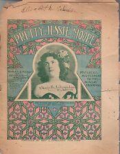 1900 Pretty Jessie Moore Newspaper insert - George Spaulding; Lola Hawthorne