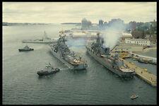 637029 Ruso Destructor de misiles dejando Navy astillero en Halifax A4 Foto Impresión