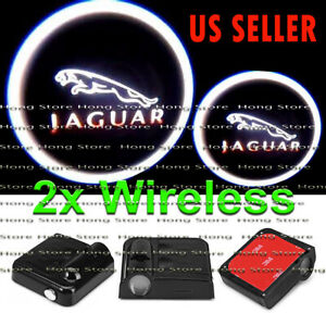 2x Wireless Jaguar Ghost Shadow Projector Laser LED Courtesy Door Step Light