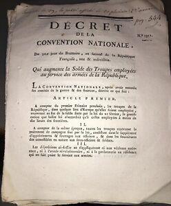 RÉVOLUTION.DOCUMENT SUR LA (SOLDE) DES TROUPES. AN SECOND (1794).