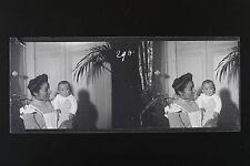 Italie Italia Gouvernante avec bébé Plaque de verre stereo NEGATIF, 1911