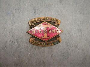 Diamond T Truck Rare Factory Salesman Dealer Minute Man Enamel Brass Lapel Pin