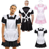 Men's Adults Sissy Maid Dress Halloween Fancy Dress Adult Cosplay Costume Outfit