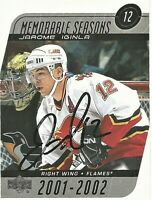 2002-03 Upper Deck Signed Jarome Iginla Calgary Flames Card #183