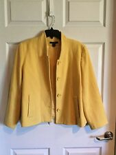 Louben, Woman's 14, Yellow Blazer, 4 Buttons, 2 Pockets, Fully Lined