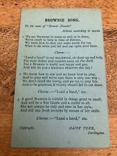 More details for early 1900s brownie song card ! copyright daisy tuke darlington
