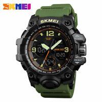 SKMEI Men Military Army Sport Analog Digital LED Watch Waterproof Tactical Watch