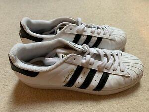 Adidas Originals Superstar men's trainers in white/black - size 9