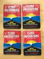 1978 Topps Close Encounters Of The Third Kind Wax Pack Lot Of 4 Vintage Unopened
