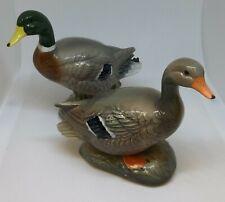 North Dakota Pottery Collectors Frog Point Mallard Duck Pair Figurines