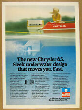 1977 Chrysler Marine 65 Outboard Motor red boat photo vintage print Ad
