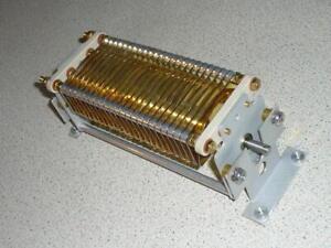 Oren Elliott variable air capacitor 350pF 4KV transmitting 13.56MHz HF ham radio
