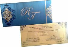 100 Personalised Muslim Sikh Hindu Cheap Low Cost Wedding Invitations Cards