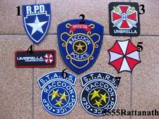 7 PCS RESIDENT EVIL RACCOON POLICE UMBRELLA PATCH BADGE FREE SHIPPING