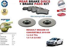 für RENAULT MEGANE CC Cabrio Bremsscheiben SET HINTEN+Bremsbelagsatz