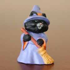 Hallmark Merry Miniatures Halloween Cat Witch (1991)