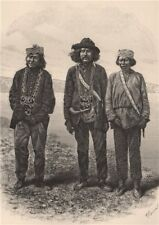 Indian trappers of the upper Tanana. Canada 1885 old antique print picture