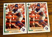 1991 Upper Deck #55 Ivan Rodriguez - Rangers (2)