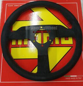 MOMO Monte Carlo 320mm Alcantara Red Stitch Steering Wheel - MCL32AL3B