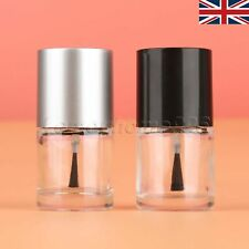Beauty 10ML Empty Nail Art Polish Bottle with Brush Refillable Portable 1/5Pcs