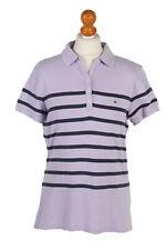 Vintage Tommy Hilfiger Polo Shirt Short Sleeve Tops Designer UK L Lilac - PT0998