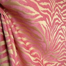 Serengeti Hot Pink Animal Print Chenille Upholstery Fabric
